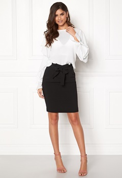 ICHI Udele Skirt Black Bubbleroom.no