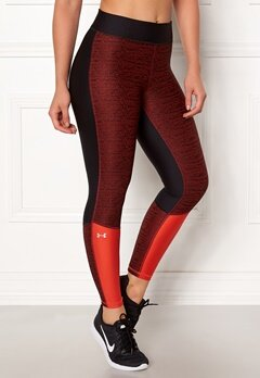 Under Armour Jac Ancle Crop Legging Black/Radio Red Bubbleroom.no