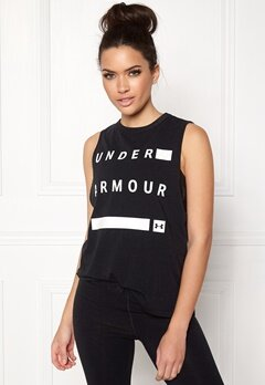 Under Armour Muscle Tank Linear Word Black Bubbleroom.no