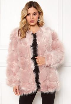 Urban Mist Diamond Panelled Fur Dusty Pink Bubbleroom.no
