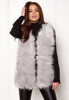 Urban Mist Faux Fur Panel Short Light Grey Bubbleroom.no