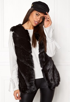 Urban Mist Faux Fur Panel Swing Black Bubbleroom.no