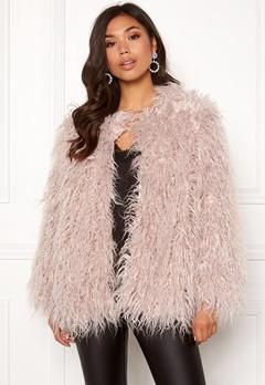 Urban Mist Mongolian Faux Fur Coat Light Pink Bubbleroom.no