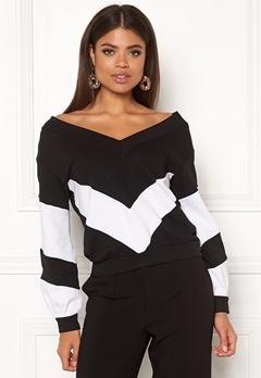Ivyrevel V Neck Sweater Black/White Bubbleroom.no