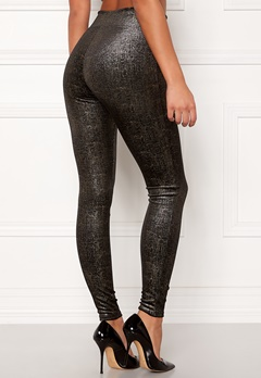 Spanx Velvet Leggings Black/Gold Bubbleroom.no