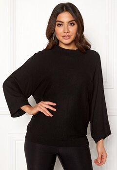 VILA Ventine Knit 7/8 Top Black Bubbleroom.no