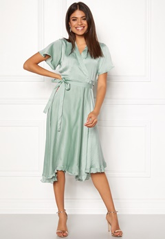 VERO MODA Alanna Wrap Dress Jadeite Bubbleroom.no