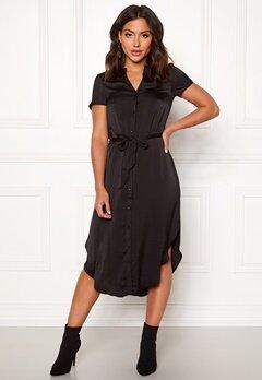 VERO MODA Alba S/S Belt Dress Black Bubbleroom.no