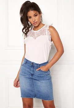 VERO MODA Alberta Lace Top Snow White Bubbleroom.no