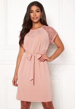 VERO MODA Alberta S/S Lace Dress Misty Rose Bubbleroom.no
