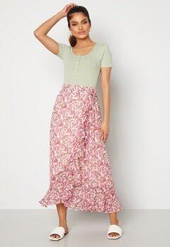 VERO MODA Anneline Wrap Skirt Birch AOP: New Annel Bubbleroom.no