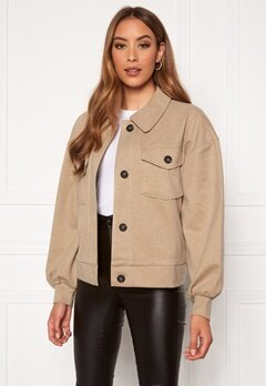 VERO MODA Asha L/S Overshirt Jacket Birch Bubbleroom.no