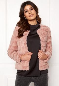 VERO MODA Avenue Faux Fur Short Misty Rose Bubbleroom.no
