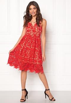 VERO MODA Beauti s/l Lace Dress Hibiscus Bubbleroom.no