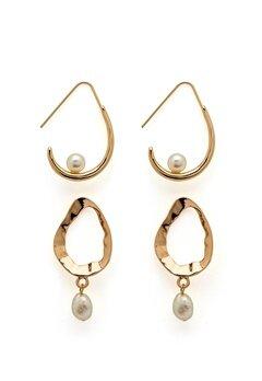 VERO MODA Blia Earrings 2-pack Gold Colour Bubbleroom.no