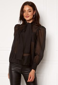 VERO MODA Briana L/S Shirt Black Bubbleroom.no