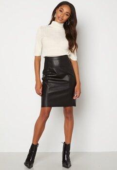 VERO MODA Buttersia Coated Skirt Black bubbleroom.no