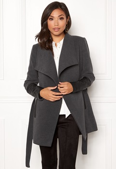 VERO MODA Cala 3/4 Jacket Dark Grey Melange Bubbleroom.no