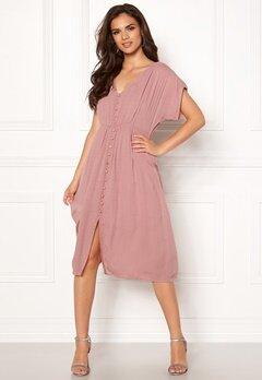 VERO MODA Ciao Button S/S Dress Woodrose Bubbleroom.no