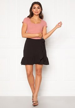 VERO MODA Cita Bobble Wrap Skirt Black Bubbleroom.no