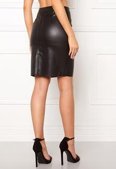 VERO MODA Clara Pu Skirt Black Bubbleroom.no