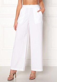 VERO MODA Coco HW Stella Wide Pants Bright White Bubbleroom.no