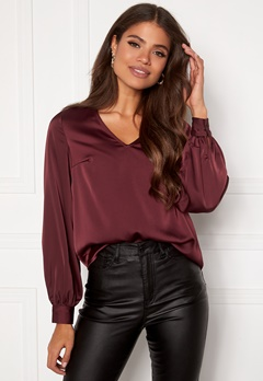 VERO MODA Coco L/S Neck Top Port Royale Bubbleroom.no