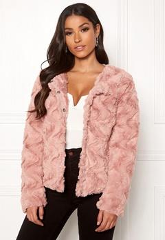 VERO MODA Curl Short Faux Jacket Misty Rose Bubbleroom.no