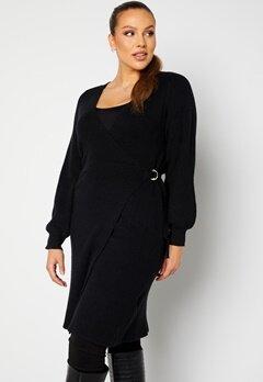 Vero Moda Curve Briahermosa LS Wrap Dress Black bubbleroom.no