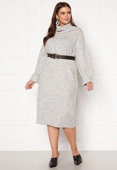 Vero Moda Curve Gaiva Cowl Neck Dress Light Grey Melange Bubbleroom.no