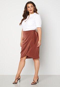 Vero Moda Curve Kakki Skirt Sable bubbleroom.no