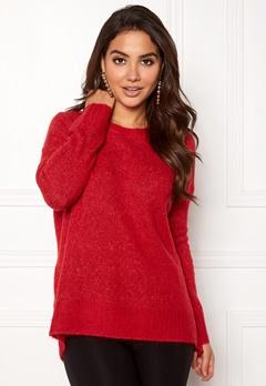 VERO MODA Cute LS Oversize Knit Chinese Red Bubbleroom.no