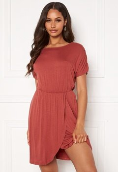 VERO MODA Donna ss Short Dress Marsala Bubbleroom.no
