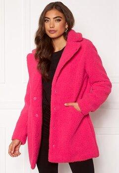 VERO MODA Donna Teddy Jacket Pink Peacock Bubbleroom.no