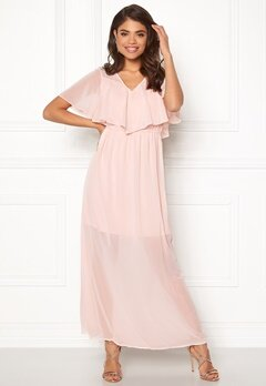 031d02682abc VERO MODA Dora SS Long Dress Sepia Rose Bubbleroom.no