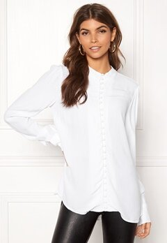 VERO MODA Ella LS Shirt Bright White Bubbleroom.no