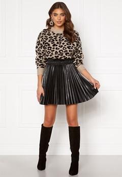 VERO MODA Elvira Coated Skirt Black Metallic Bubbleroom.no
