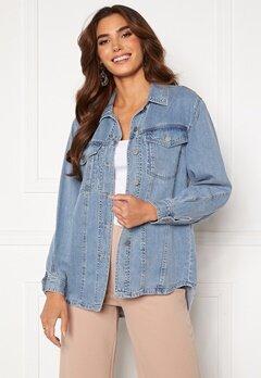 VERO MODA Emery Ls Oversize Denim Shirt Light Blue Denim<br>  Bubbleroom.no