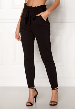 VERO MODA Eva Loose Paperbag Pants Black Bubbleroom.no
