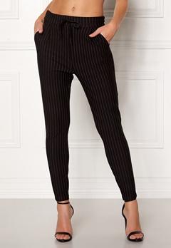 VERO MODA Eva MR Loose Pinstripe Pants Black Bubbleroom.no
