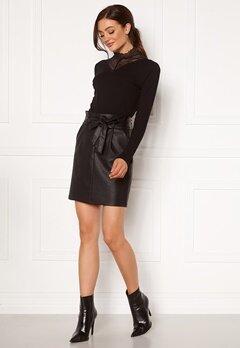 VERO MODA Eva Paperbag Short Coated Skirt Black Bubbleroom.no