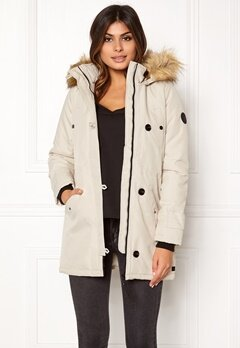VERO MODA Excursion Parka Oatmeal Bubbleroom.no
