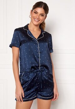 VERO MODA Fanni S/S Nightwear Set Navy Blazer Bubbleroom.no
