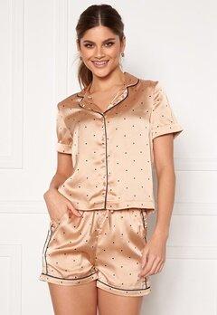 VERO MODA Fanni S/S Nightwear Set Nougat Bubbleroom.no