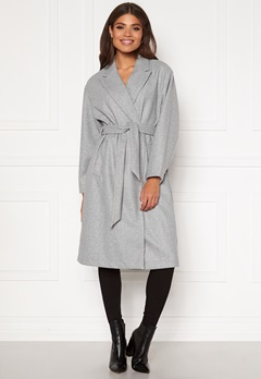 VERO MODA Fortune Long Jacket PI Light Grey Melange Bubbleroom.no