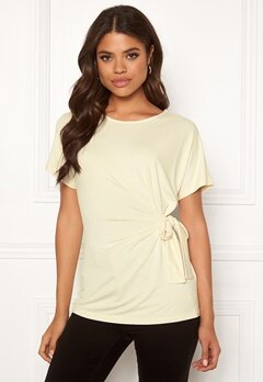 VERO MODA Fritza ss Wide Knot Top Birch Bubbleroom.no