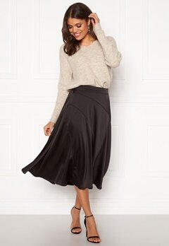 VERO MODA Gabbi Calf Skirt Black Bubbleroom.no