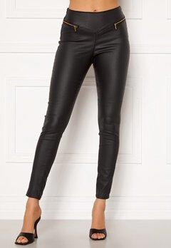 VERO MODA Geller HR Slim Coated Zip Pants Black Bubbleroom.no