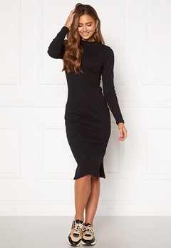VERO MODA Harriet L/S High Neck Dress Black Bubbleroom.no