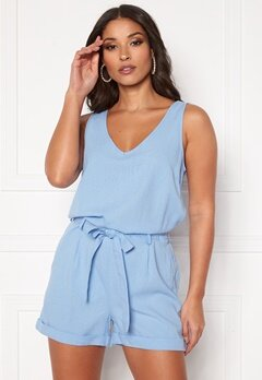 VERO MODA Helen Milo SL Playsuit Placid Blue Bubbleroom.no